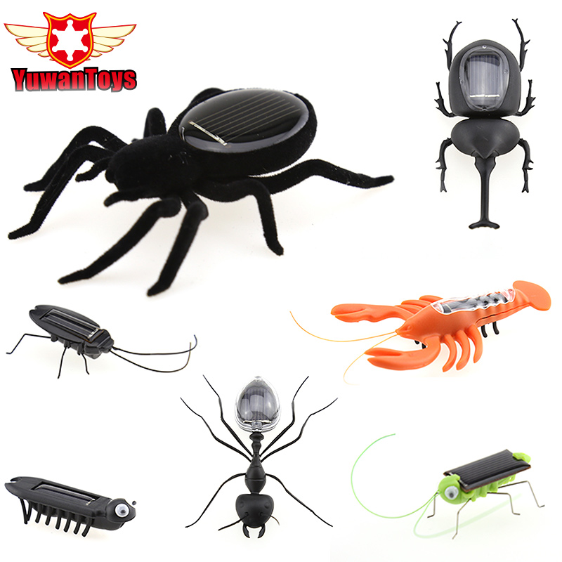 Novelty Creative Puzzle Solar Power Various Types Of Simulation Insect Car For Children's Christmas Toys Xmas Festival With Box