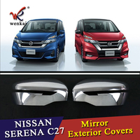 2pcs Lots Rear Mirror Cover Car Styling Chrome Side Door Plating Decorative For Nissan Serena 2016