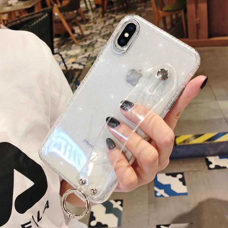 Socoupair держатель для телефона чехол для iPhone X R чехол для iPhone X Xs max 7 8 6 6s plus Blng Блестящий Мягкий силиконовый браслет крышка