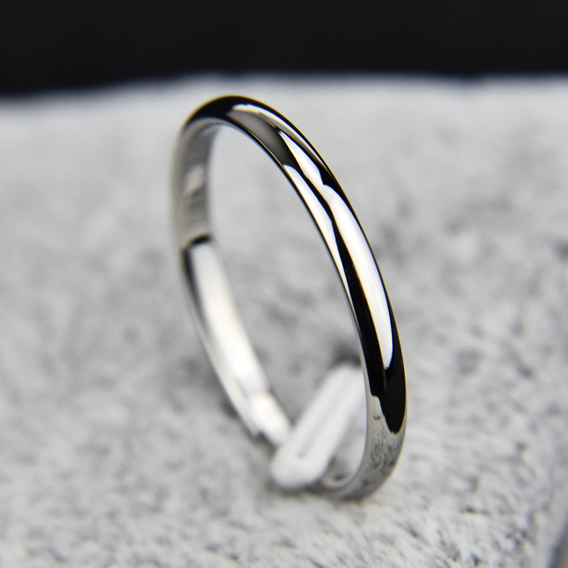US $0 35 |Titanium Steel Rose Gold Anti allergy Rings For Women Round  Smooth Simple Wedding Band Couples Rings Women Girls Jewelry Gift-in Rings  from
