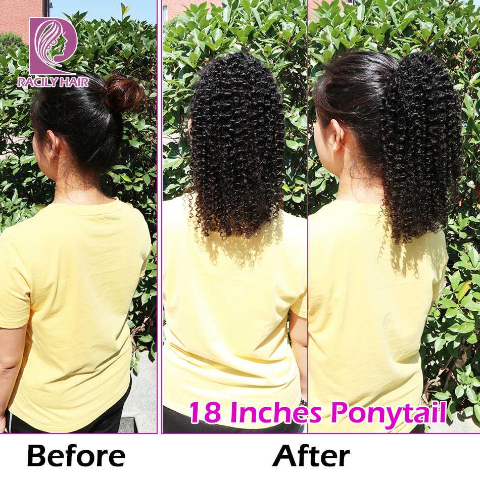 Расчески волосы афро кудрявый прическа «конский хвост» Remy бразильский шнурок конский хвост 1 шт. зажим для наращивания волос 1B хвост пони