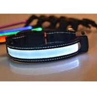 New Arrival LED Solar Light Collars Teddy Noctilucent Collar Usb Charging Collar Waterproof Flash Collar Pet