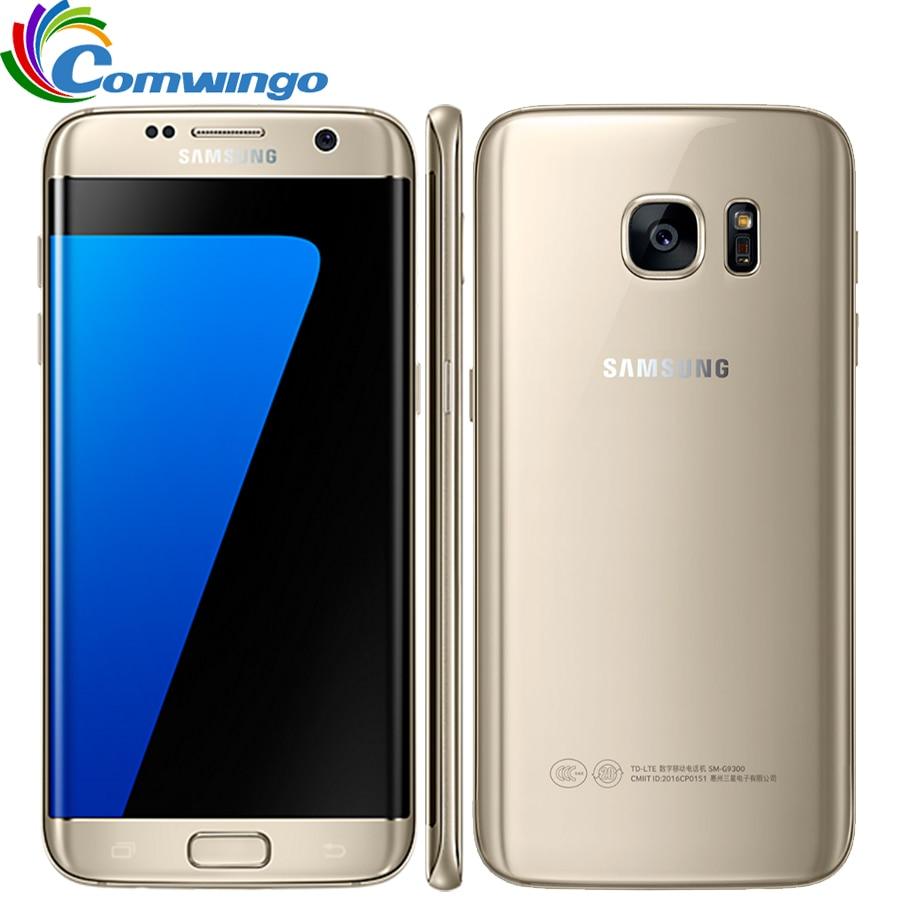 Samsung Galaxy S7 Bord G935F et G935V Smartphone 5.5 ''4 gb RAM 32 gb ROM Unique SIM NFC 12MP 4g LTE Téléphone Portable