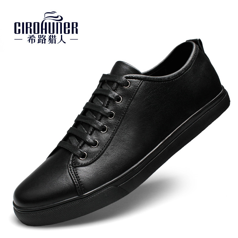 Men s genuine leather shoes dress casual made of business comfortable rubbler Men Casual Shoes Fashion
