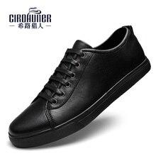 Новый Мода 2017 г. Мужские туфли из натуральной кожи Модельные туфли для Для Мужчин's Бизнес летняя черная обувь Для мужчин повседневные Лоферы плюс размер 38-47