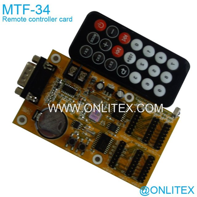 MTF-34 Remote LED Display controller card, change the show contend by are remote bar