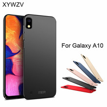 Para Samsung Galaxy A10 funda a prueba de golpes Silm de lujo ultrafino suave duro PC funda trasera para Samsung galaxy A10 Fundas