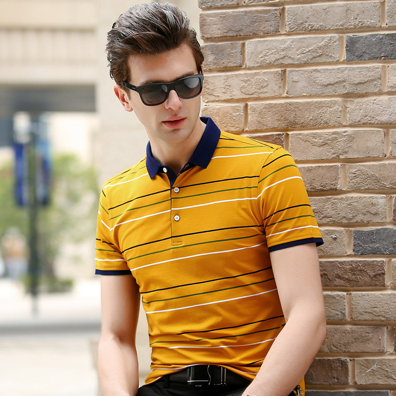 new summer 2018   polo   shirt men high quality business casual striped short sleeve breathable fashion designer plus size 3XL 8869