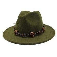 60e4f05ee1d Seioum Wool Women Men Fedora Hat For Gentleman Elegant Lady Winter Autumn  Wide Brim Jazz Church