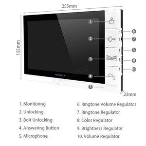 """Image 2 - HOMSECUR 9 """"a Colori Cablata Video Telefono Del Portello Citofono Sistema di Ingresso con 700TVL Visione Notturna di IR Macchina Fotografica Esterna (TM901 + TC021 S)"""