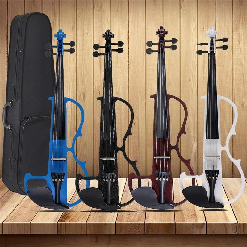 4/4 Pannello Basswood Acustica Violino Strumenti A Corde di Violino Con Custodia Del Violino Arco Cuffia Colofonia Stringhe In Lega di Alluminio
