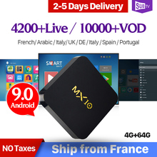 MX10 IPTV France Arabic RK3328 USB3.0 Android 9.0 TV Box 4GB 64GB SUBTV IPTV Spain Canada Italy French Belgium Netherlands IP TV все цены