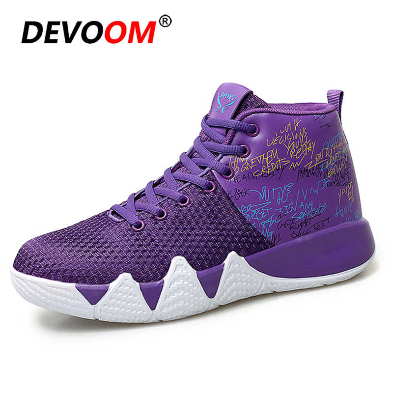 f13e707ef31 2018 Winter High Top Lace Up Kyrie Irving 4 Basketball Shoes Mix Color  Cushion Shockproof Boston
