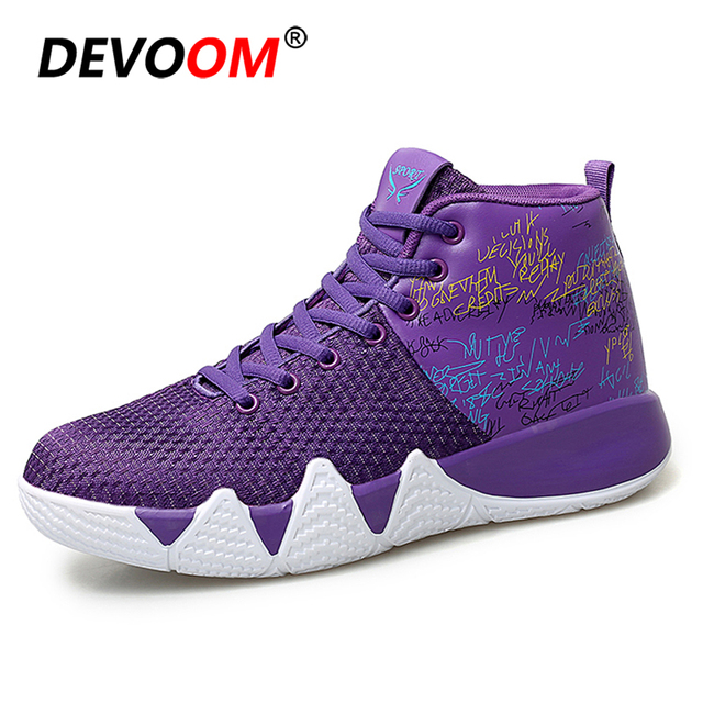 95d85b23522f 2018 Winter High Top Lace Up Kyrie Irving 4 Basketball Shoes Mix Color  Cushion Shockproof Boston Athletic Outdoor Sport Shoes