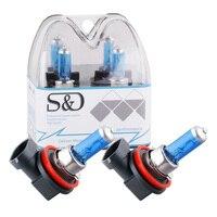 H11 55W 12V Headlight Bulbs Halogen Xenon Filled Super Bright White Car Fog Light Driving Lamp