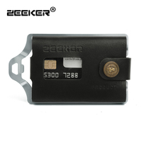 ZEEKER RFID Blocking Credit Card Holder/Protector Silver Metal/Stainless Steel Travel Wallet/Case for Men