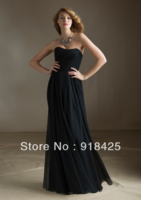 211b47d804cd Affordable Strapless Empire Waist Bridesmaid Dress Black Chiffon Long  FN238-in Bridesmaid Dresses from Weddings & Events on Aliexpress.com |  Alibaba Group