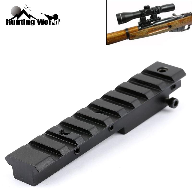 Mount Fits-20mm Mosin Nagant Weaver Rail Hunting Tactical Picatinny M44 Rifle-Scope 9-Slots