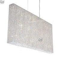 Золотистая люстра простые гостиничные коридоры светильники для спальни Ретро лампа Коридорная лампа хрустальная лампа 122 см Ш x 10 см Д x 62 см