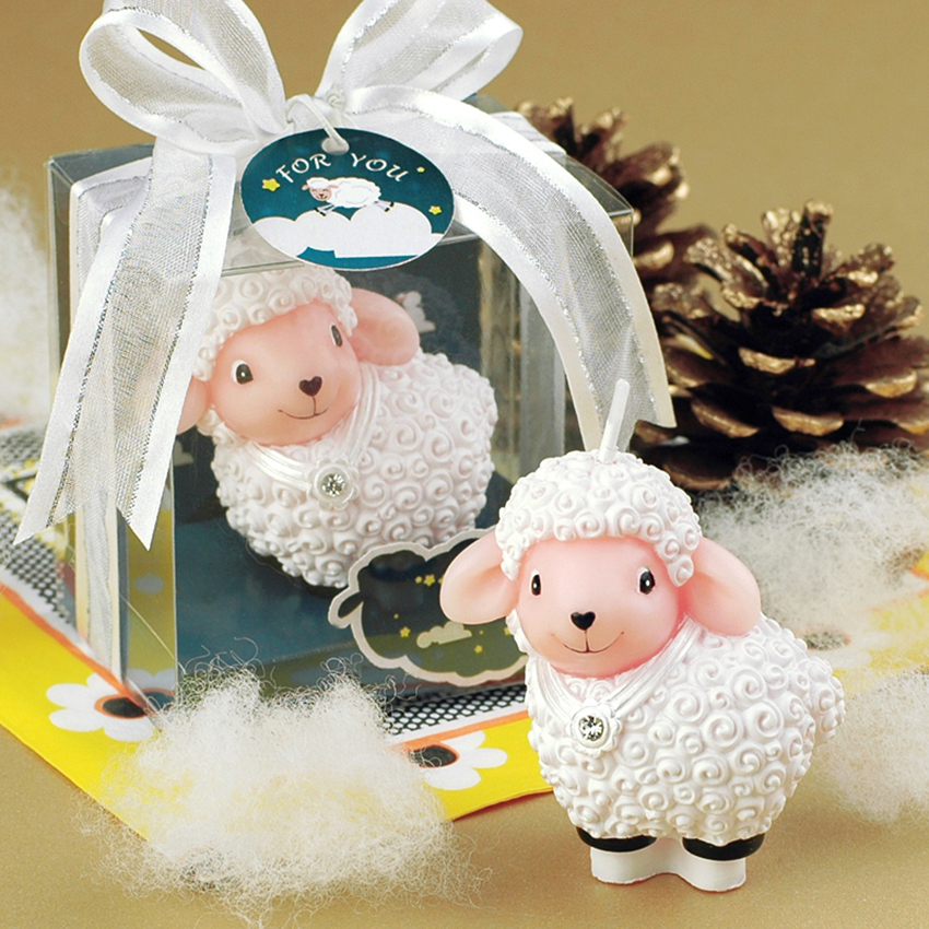 Creative cartoon Baby sheep candles child birthday candle cake candels Festival party decor Smokeless technology Free shipping 1