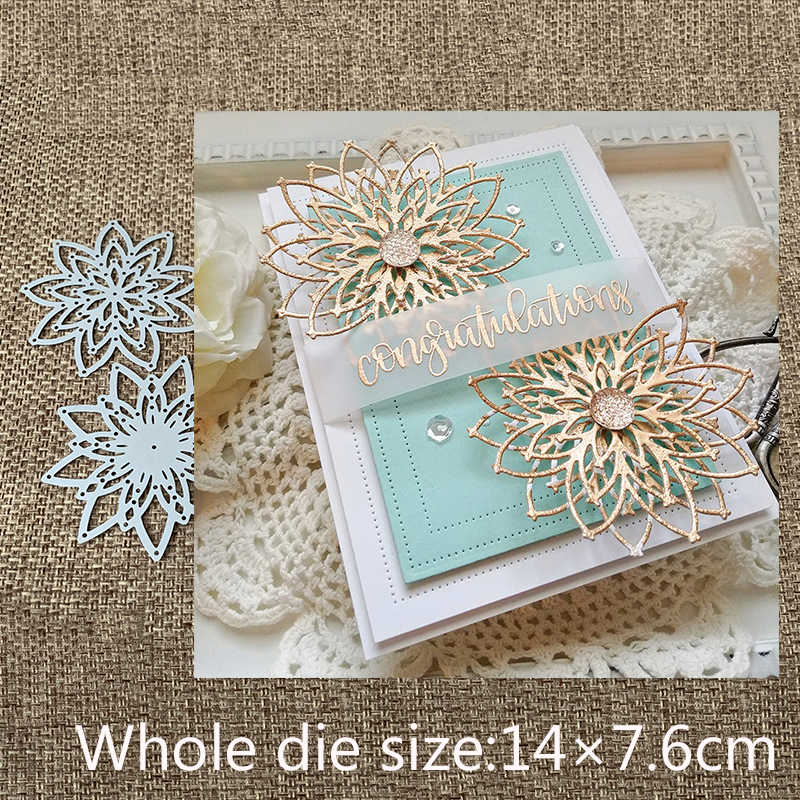 New Design Craft Metal Cutting Dies cut die 2pcs flower decoration Scrapbooking Album Paper Card Craft Embossing Die Cuts