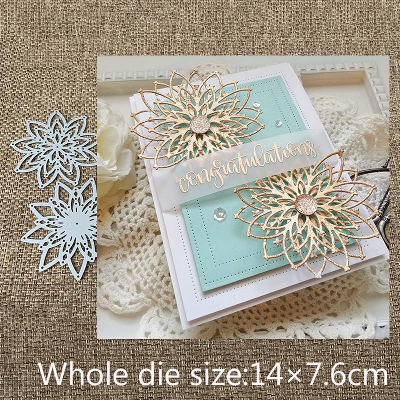2Pcs Fence Design Metal Cutting Die For DIY Scrapbooking Album Paper Cards XS