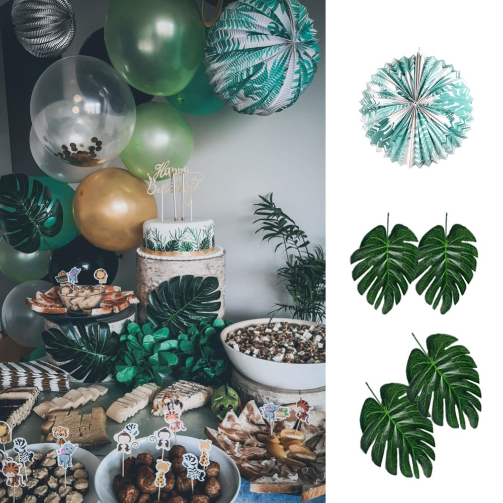 Summer Party Decoration Kit Honeycomb Hanging Parrot Artificial Tropical Leaves Latex Balloon Paper Lantern Enjoy Summer Banner in Party DIY Decorations from Home Garden
