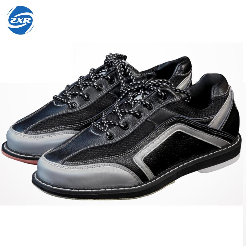 Men's Bowling Shoes With Skidproof Sole Sneakers Breathable Male Genuine Leather Professional Sport Bowling Shoes For Men