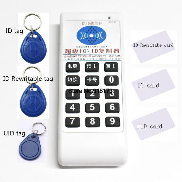 NFC RFID 13.56 Mhz 125 khz IC ID Copiadora Duplicadora Clonador lector escritor 250 khz 375 khz 500 khz 625 khz 750 khz 875 khz 1 Mhz de Frecuencia 9
