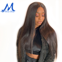 Missblue 360 Lace Frontal Wigs With Baby Hair Pre Plucked Straight Full Peruvian Human Hair Lace Front Wigs For Black Women