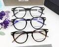 Thom Browne Retro Vintage Marco de Los Vidrios Hombres Mujeres Oculos De Grau Anteojos Equipo Óptico Miopía Gafas de Prescripción