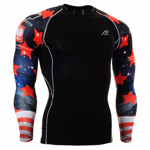 ESTRELLA ROJA  Técnica de Compresión Camisa MMA Fitness Gym Workout Yoga  Crossfit CPD- bc82b6f48a4df