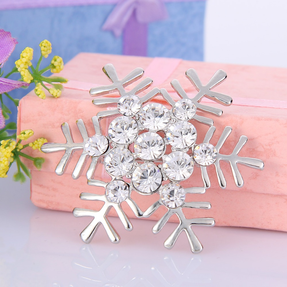 BELLA Christmas Gift Gold U0026 Silver Plated Clear Winter Snowflake Rhinestone Brooch  Pins Big Austrian Crystal Brooch Pin In Brooches From Jewelry ...