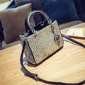 Luxury blingbling sequins women handbags fashion gold silver black large evening shoulder bags designer wedding ladies hand bags