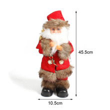 Christmas Santa Claus Singing Dancing Lighting Creative Electric Plush Dolls Music Doll Toys For Children Xmas Gifts Y30