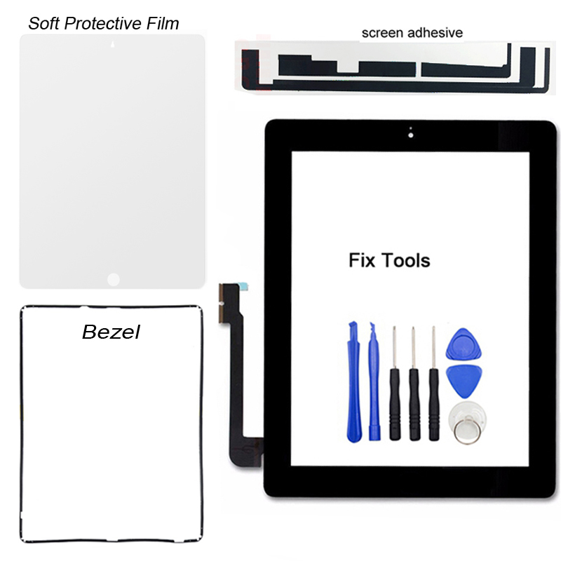Black Adhesive Replacement Digitizer Touch Screen Glass For iPad 3 3rd US Seller