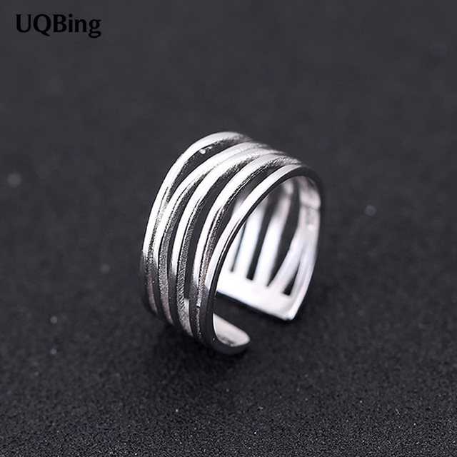 New Arrival 925 Sterling Silver Rings Multi Layer Silver Ring For Women Jewelry