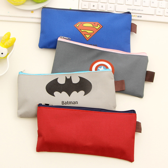Hot Sales Cute Kawaii Cartoon Fabric Zipper Pencil Case For Kids Student Novelty Item School Material Free Shipping 0803