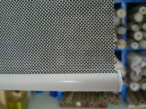 Image 4 - Traslucido Sole Avvolgibili Schermo in nero 35% Poliestere 65% PVC Tenda di Finestra per la Cucina Balcone