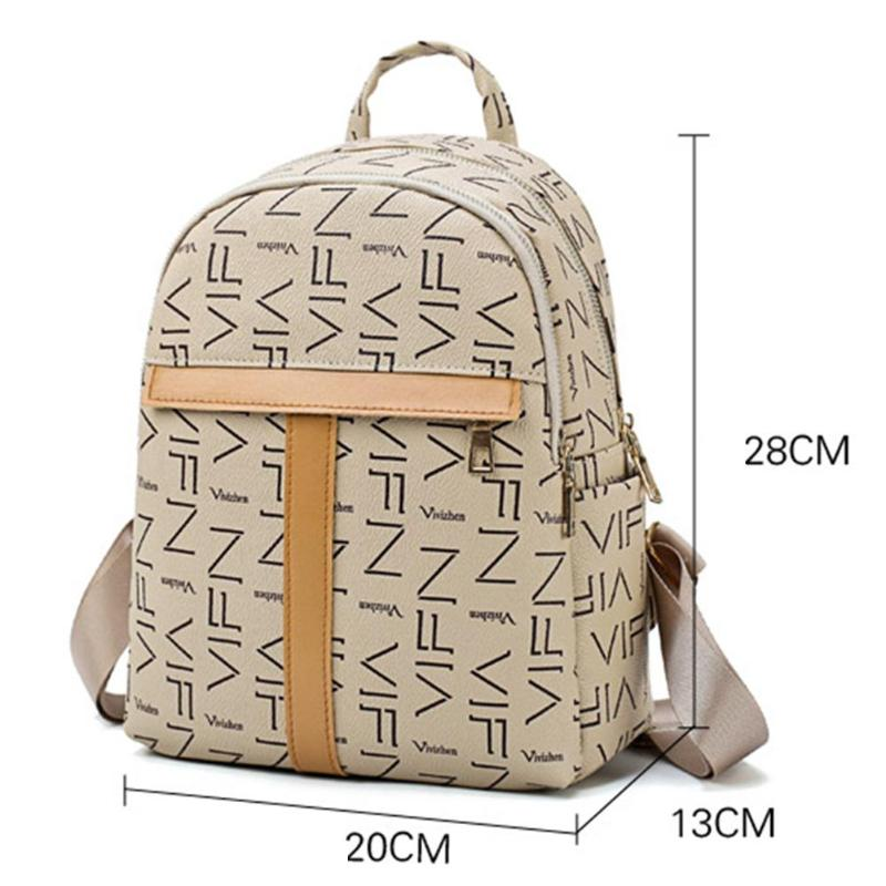 f9438b75dab4 Elegant Women Lady PU Leather Backpacks Fashion Mini Zipper Casual Shoulder  Handbags Schoolbags Features  The fashion version of the type concise but  not ...
