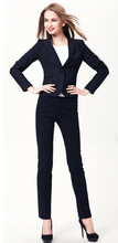 Pantalones Mujer Sale New Plus Size 2017 Fall Winter Professional Business Work Wear Office Women Suits Elegant Navy Pants Suit