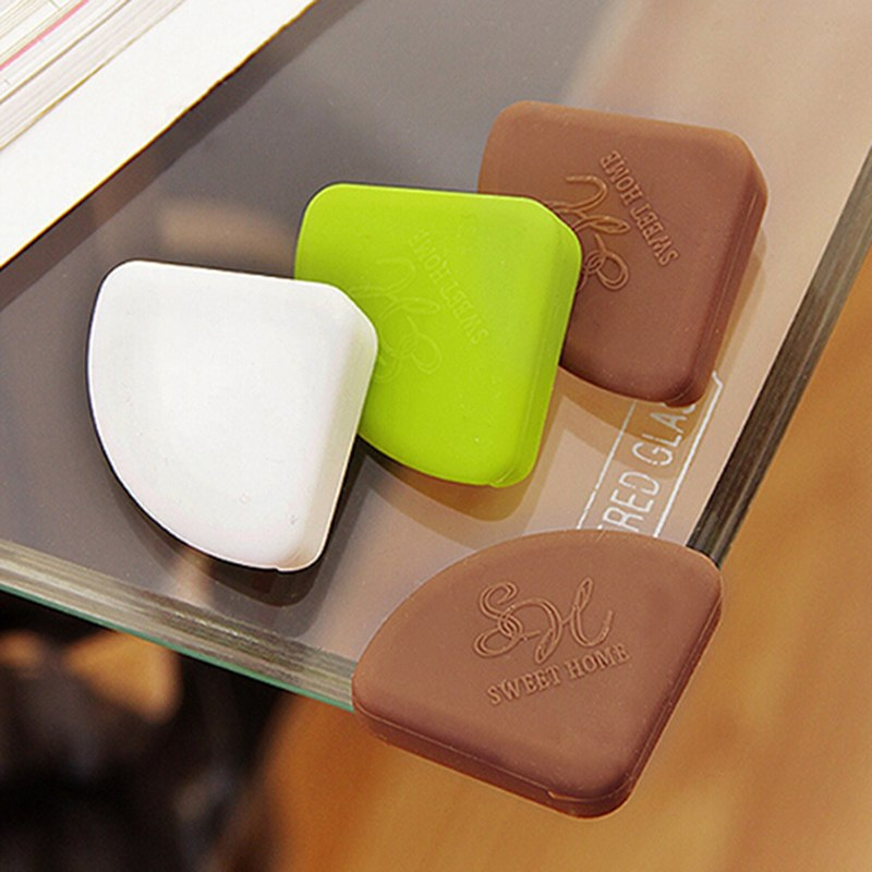 4Pcs Baby Kids Silicon Arc Corner Protector Table Corner Cover Safety Guards