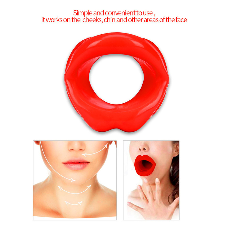 Silicone Rubber Face Slimmer Exercise Mouth Piece Muscle Anti Wrinkle Lip Trainer Mouth Massager Exerciser Mouthpiece Face Care