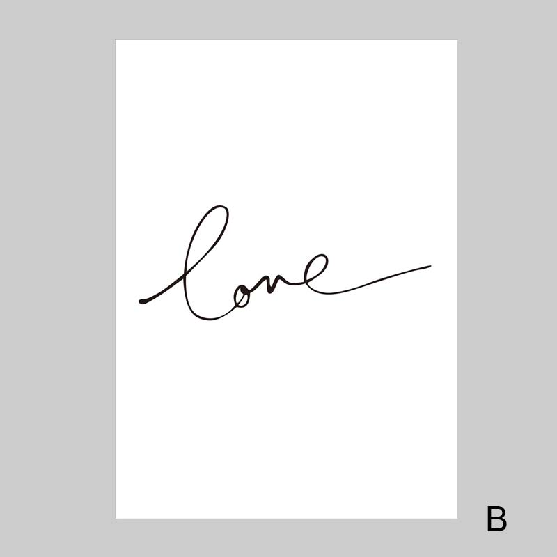 Image 5 - Love Quotes Baby Room Wall Art Canvas Painting Nordic Poster For Living Room Pink Wall Pictures Decoration Unframed-in Painting & Calligraphy from Home & Garden