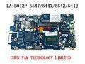 ZAVC0 LA-B012P Rev: 1.0 ДЛЯ Dell Inspiron 5447 5547 5542 5442 Материнской Платы Ноутбука Celeron 2957U Mainboard Гарантии 90 Дней испытания
