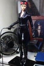 Envío libre kumik KMF029 1:6 versión Cómica Catwoman con dos cabezas shape12inch muñeco, conjunto de producto Final