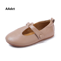 AAdct 2019 soft sole baby shoes spring new little girls shoes Brand High quality kids leather shoes for girls toddler