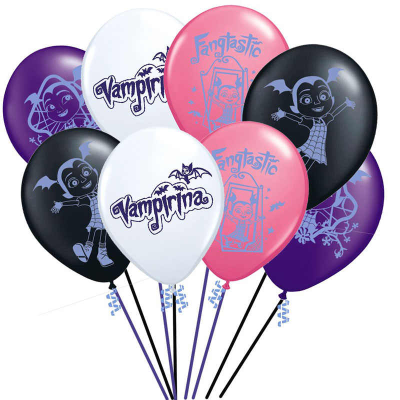 8pcs/lot Vampirina Latex Balloon Inflatable Happy Birthday Decorations Princess balloon Globos Toys For Kids