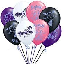 8ピース/ロットvampirinaラテックスバルーンインフレータブルハッピーバースデー装飾王女バルーングロボスおもちゃ子供のための