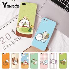Yinuoda Kawaii Molang Anime Cartoon cat Customer High Quality Phone Case for iPhone 6S 6plus 7 7plus 8 8Plus X Xs MAX 5 5S XR 10